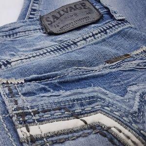 Salvage Jeans 32x30 Havoc Slim Straight Blue Denim